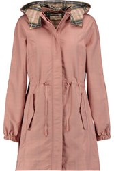 Tory Burch Shell Hooded Coat Pink
