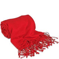 Forzieri Red Pashmina And Silk Shawl