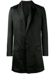 Haider Ackermann Single Breasted Cloque Coat Black