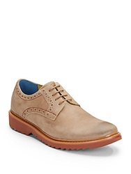 Robert Graham Bethune Leather Derby Shoes Sand