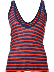 T By Alexander Wang Striped Tank Top Red