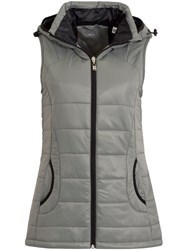 Calvin Klein Hooded Padded Gilet Grey