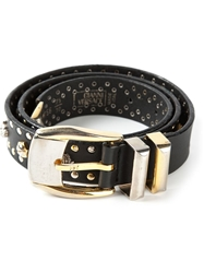 Gianni Versace Vintage Studded Belt Black
