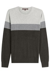 Michael Kors Collection Colorblock Crewneck Pullover Multicolor
