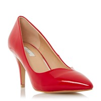 Linea Aimi Pointed Toe Mid Heel Court Shoe Red