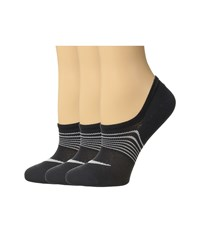 Nike 3 Pair Pack Lightweight Footie Black White Women's No Show Socks Shoes