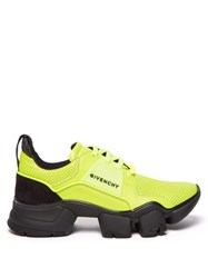 Givenchy Jaw Perforated Leather Trainers Yellow