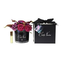 Cote Noire Autumn Floral In Black Glass Saigon Garden Fragrance