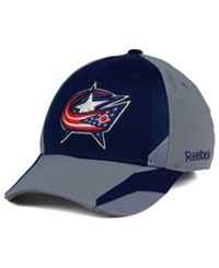Reebok Columbus Blue Jackets Corner Net Flex Cap Navy Gray