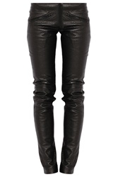 Preen Leather Front Ted Slim Pants