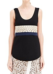Proenza Schouler Honeycomb Tank Top Black