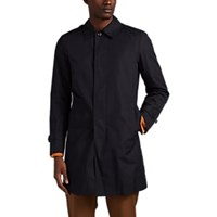 Sealup Cotton Blend Gabardine Raincoat Navy