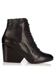 Robert Clergerie Tula Leather Ankle Boots Black