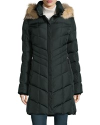 Bogner Dalia D Chevron Down Coat Bottle Green 297
