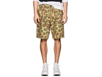 Rag And Bone Camouflage Cotton Twill Field Shorts Green