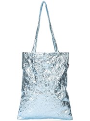 Sies Marjan Metallic Shopper Tote Blue