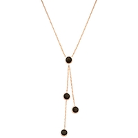 London Road Pimlico Rain Drop 9Ct Rose Gold Necklace Smoky Quartz