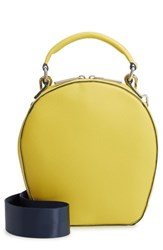 Deux Lux Annabelle Faux Leather Circle Crossbody Bag Yellow Citron