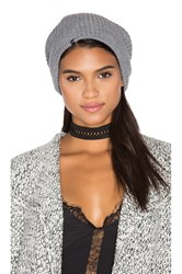 Plush Ribbed Beanie Gray