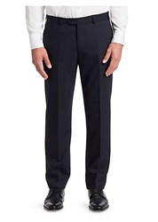 Emporio Armani G Line Tonal Stripe Stretch Wool Pants Navy