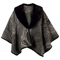 Chesca Pasiley Jacquard Wrap Charcoal