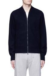 Rag And Bone 'Michael' Wool Blouson Jacket Blue