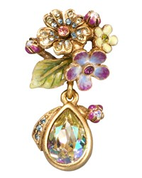 Daniella Bouquet Drop Tack Pin Jay Strongwater Multi Colors