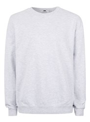 Topman Grey Wash Panelled Oversized Sweatshirt