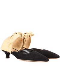 The Row Coco Suede Mules Black