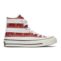 J.W.Anderson Jw Anderson Indigo And Red Converse Edition Grid Logo Chuck 70 Hi Archive Print Sneakers