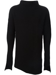 Thom Krom Ribbed Jumper Black