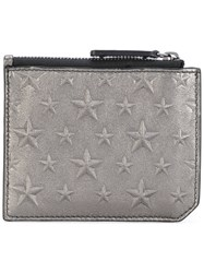 Jimmy Choo Belmont Star Embossed Cardholder Men Calf Leather One Size Metallic