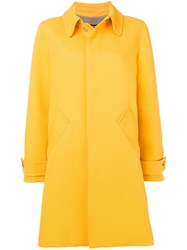 A.P.C. Box Pleat Midi Coat Yellow