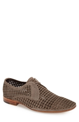 Carlo Pazolini Perforated Suede Oxford Men Brown