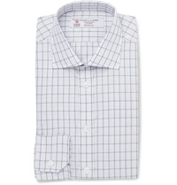Turnbull And Asser Slim Fit Check Cotton Shirt White