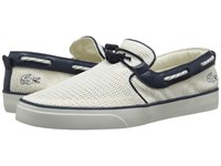 Lacoste Gazon Deck 216 1 White Navy Men's Shoes