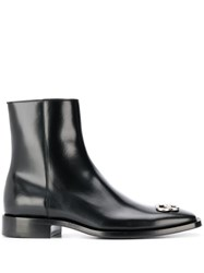 Balenciaga Smooth Leather Bb Boots Black