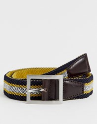 Ted Baker Spamm Webbing Belt In Navy