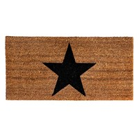 Bloomingville Door Mat 40X80cm Black Star
