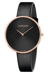 Calvin Klein Full Moon Leather Band Watch 42Mm