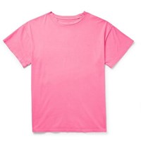 The Elder Statesman Cotton Jersey T Shirt Pink