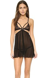 Honeydew Intimates Lucy Babydoll And Thong Set Black