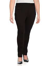 Vince Camuto Ponte Moto Solid Leggings Black