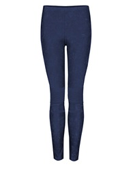 Dex Acid Wash Leggings Blue