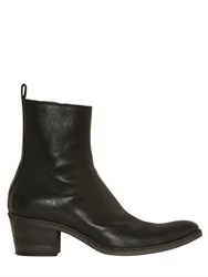 Haider Ackermann 55Mm Leather Western High Boots