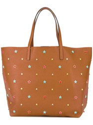 Red Valentino Star Studded Tote Brown