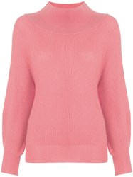 Ryan Roche Oversized Neck Jumper Pink And Purple