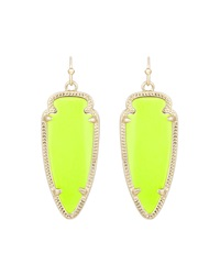 Kendra Scott Sky Magnesite Pendant Earrings Neon Yellow