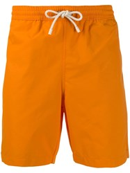 Loewe Drawstring Swim Shorts Orange