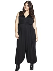 Beth Ditto Draped Silk Jumpsuit